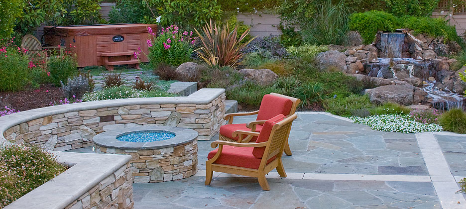 Outdoor Living Firepit and other accents