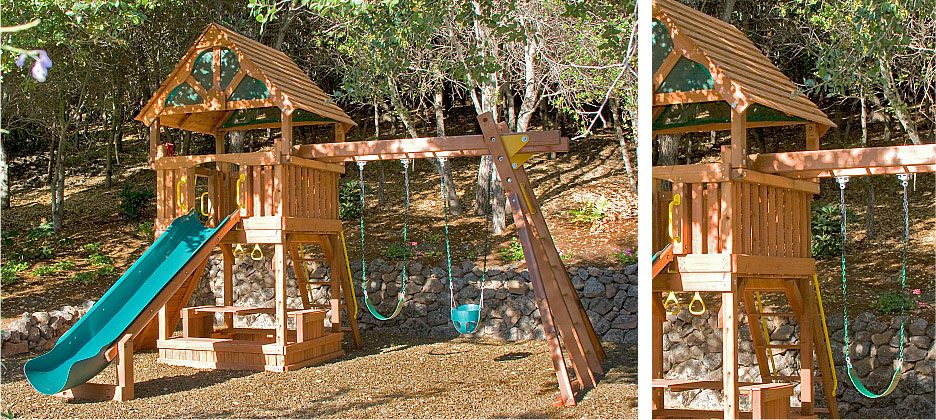 Outdoor Living Swing Set for kids